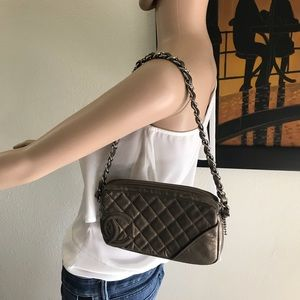 Chanel Ligne Cambon bronze leather bag